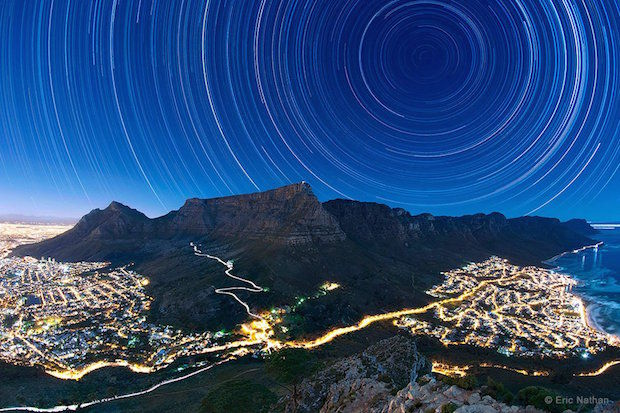 Natural star light in Cape Town