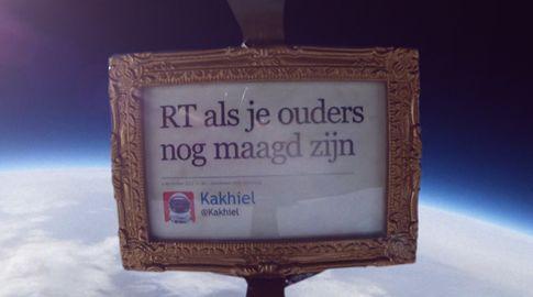 Nederland schiet eerste tweet de ruimte in