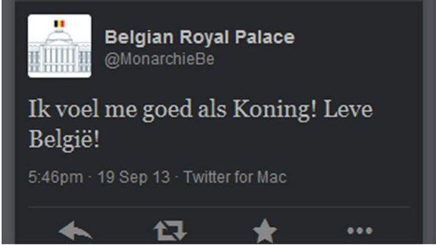 Nederlandse journalist plaatste tweet op account Belgisch Koningshuis