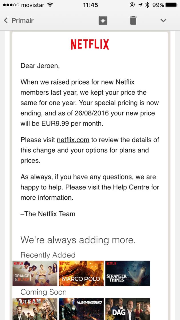 Netflix-abonnement