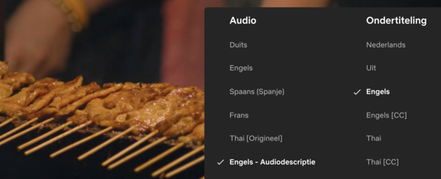 Netflix audiodescriptie