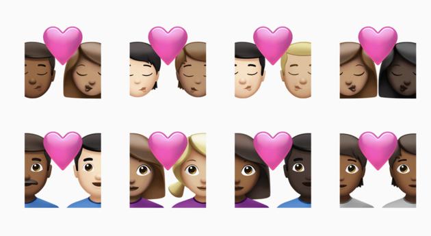 Nieuwe emoji huiskleuren
