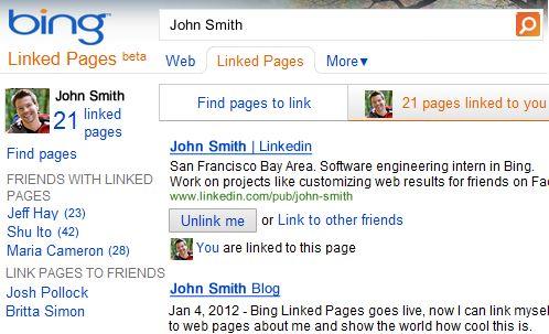 Nieuwe functie voor Bing: Linked Pages