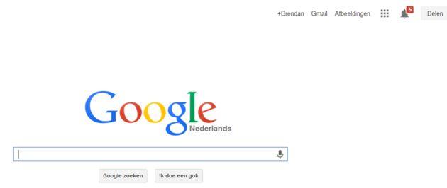 Nieuwe Google navigatie en logo, meteen proberen?