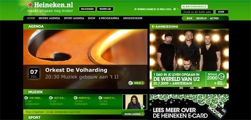 Nieuwe site Heineken is live