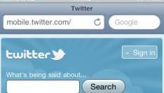 Nieuwe twitter.com versie voor mobiel