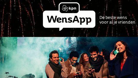 Nieuwjaarswensen versturen met KPN WensApp via Facebook
