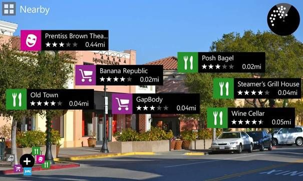 Nokia City Lens: Augmented reality-app voor Nokia Lumia