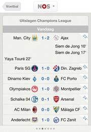 NOS iPhone app uitgebreid met 'live score'
