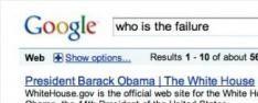 """Obama volgend slachtoffer """"Google bomb"""""""