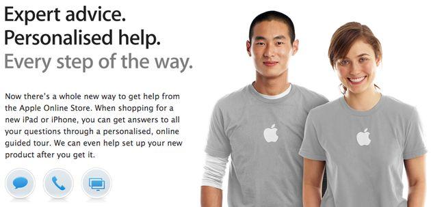 Online het gesprek aangaan met een Apple Genius