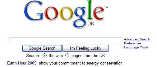 Ook Google doet mee aan Earth hour