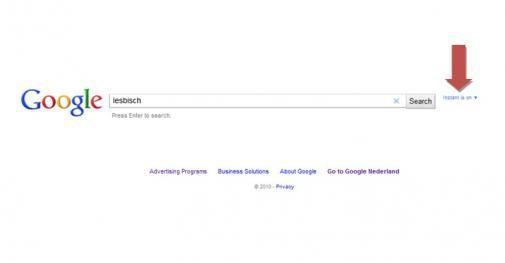 Op 'Lesbisch' kan je met de nieuwe Google Instant niet zoeken!