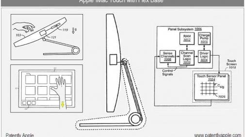 Patent voor een Touchscreen iMac