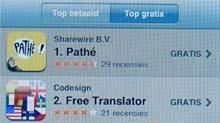 Pathe mobile scoort hoog in Apple store