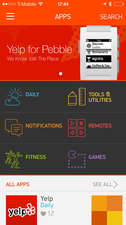 pebble appstore home1