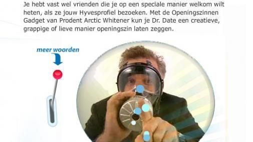 Prodent's Dokter Date's openingszinnen gadget op Hyves