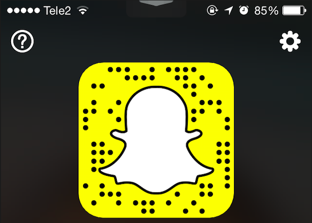 QR-code Snapchat