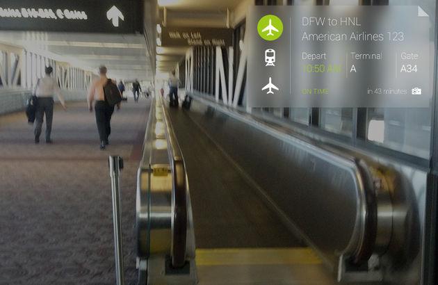 Reis-app voor Google Glass