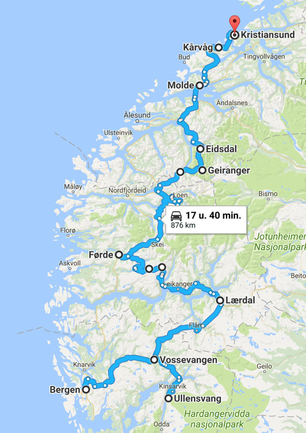 Roadtrip_noorwegen_Bergen_Kristiansund_mazda