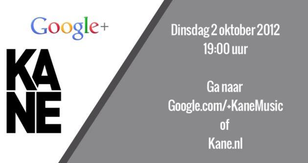 Rockband Kane presenteert nieuwe single via Google+ Hangout