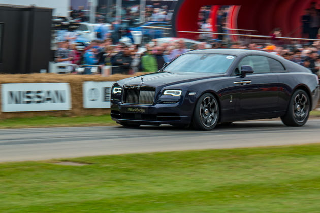Rolls Royce Wraith Black Badge hillclimb