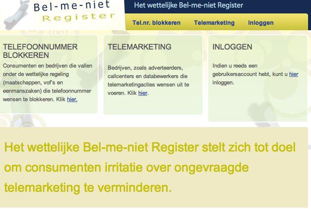 Rompslomp bel-me-niet-register noopt tot bel-me-wel-register