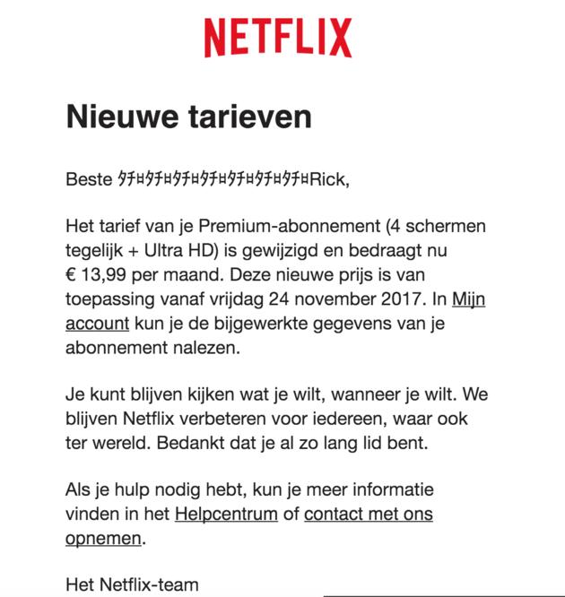 prijs netflix