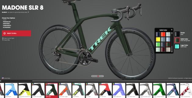 Je eigen fiets samenstellen bij Trek