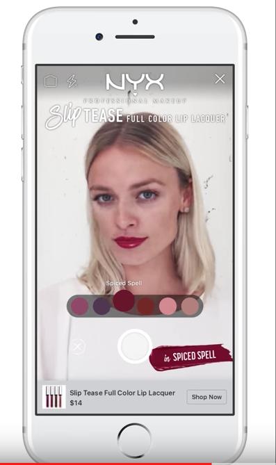 L'Oréal make-up app met AR