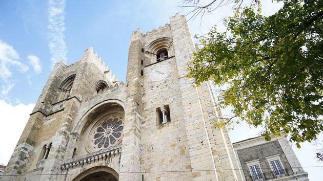Sé de Lisboa Kathedraal Lissabon Alfama.