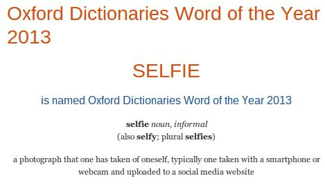"""Selfie"" is Oxford Dictionary Word of the Year 2013"