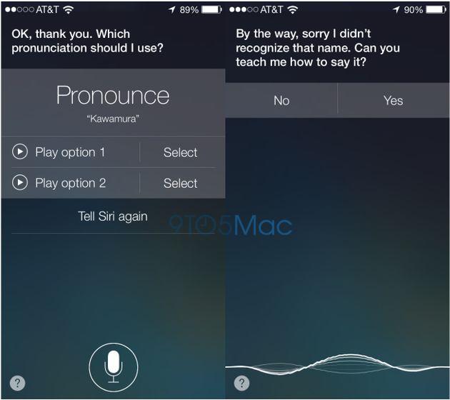 Siri gaat in iOS 7 leren jouw naam goed uit te spreken