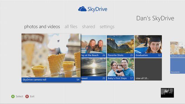 SkyDrive integratie met de XBOX 360