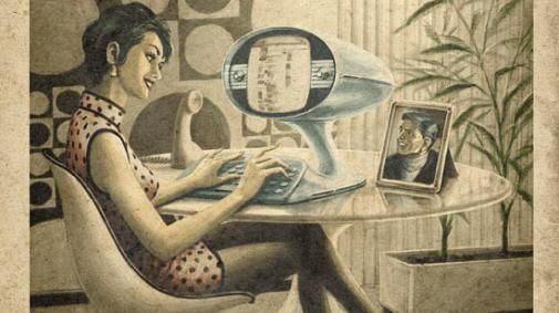 Skype, Facebook en Twitter in de jaren vijftig