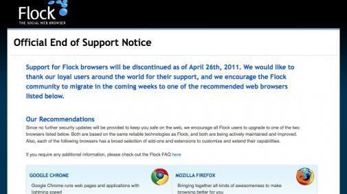 Social browser Flock stopt op 26 april
