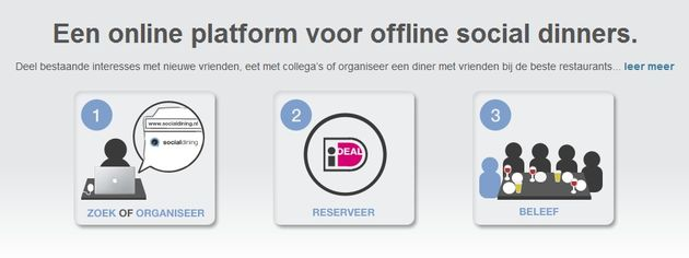 Social Dining nu ook van start in Nederland