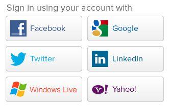 Social Login en Social Sharing [infographic]