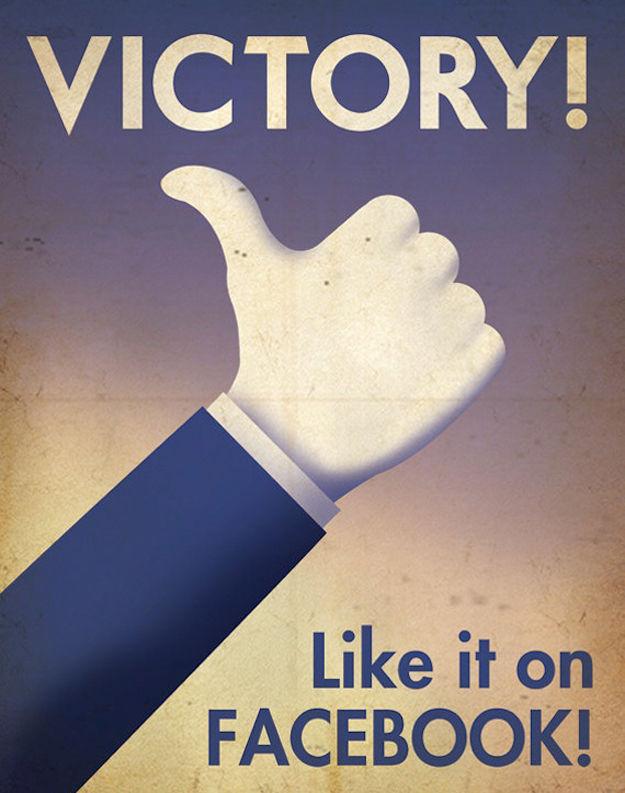 Social Network propaganda posters
