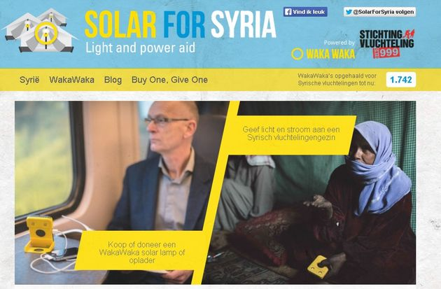 Solar for Syria = licht plus stroom voor vluchtelingen