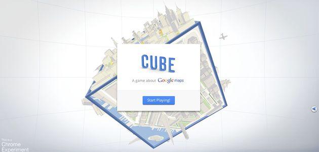 Speel het Google Maps spel; 'Cube'