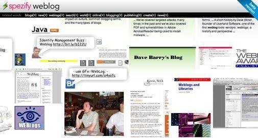 Spezify.com (Beta) een inspirerende Zoekmachine