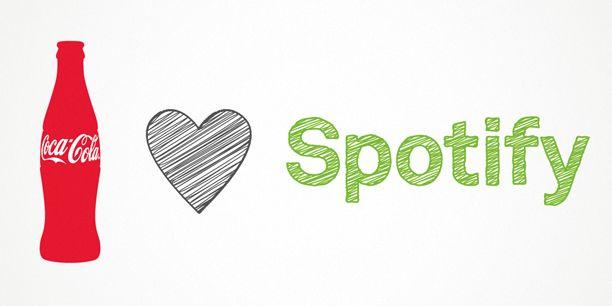 Spotify strikt ook Coca-Cola als partner