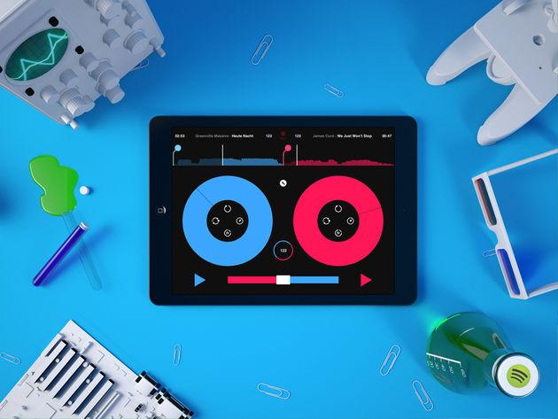 Spotify tracks mixen met Pacemaker voor iPad
