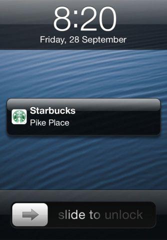 Starbucks voegt Passbook support toe aan iPhone app