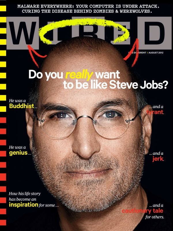 Steve Jobs op de cover bij Wired