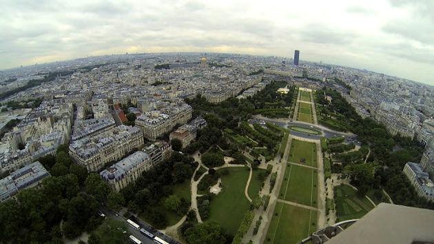 Street View panorama's vanaf de Eiffeltoren