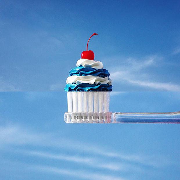 tandenborstel+cupcake