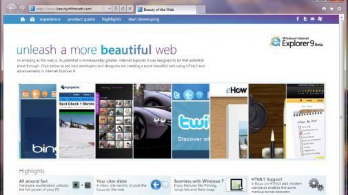 The Beauty of the Web : Internet Explorer 9 : Download nu beschikbaar