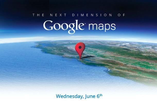 """The next dimension"" van Google Maps op 6 juni"